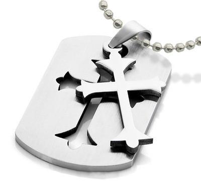 Templar cross pendant embedded celtic cross dog tag gothic templar cross embedded celtic cross dog tag gothic christian stainless steel pendant w aloadofball Images