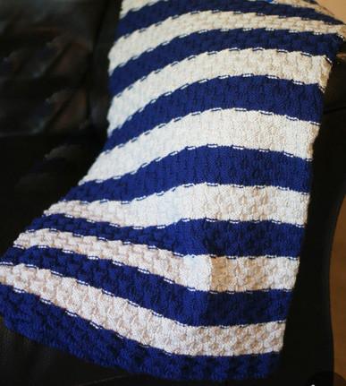 Bi Color Basketweave Afghan Http Www Knittingboard Com