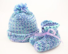 Baby Boo Booties and Hat