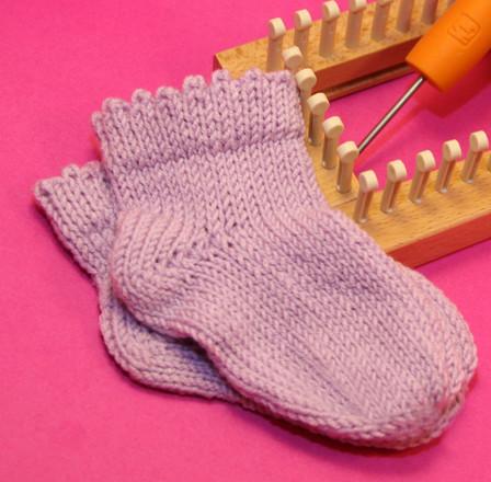 Frilly Edge Baby Sock Httpknittingboard