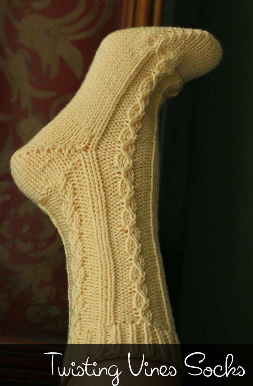 Twisting Vine Socks Http Www Knittingboard Com