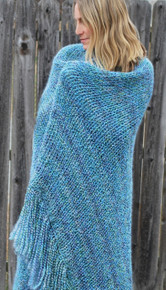 Double Knit Afghan w/ Fringe