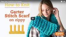 Garter Stitch Scarf on Zippy