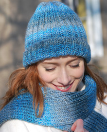 Ribbed Hat and Scarf