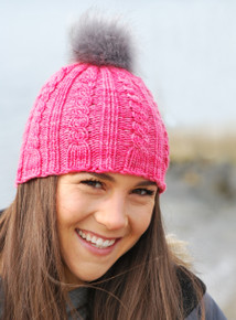 Cables Beanie with Pom Pom