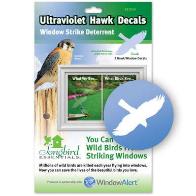 Hawk Decal Envelope Decal Pack WindowAlert - Window stickers to deter birds