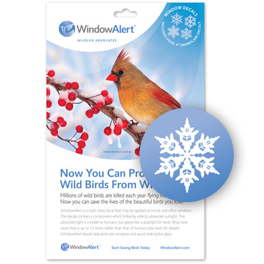 Snowflake Decal Envelope Decal Pack WindowAlert - Window stickers to deter birds