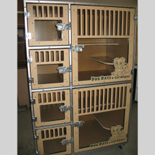 Cat cage-bank with custom logo.