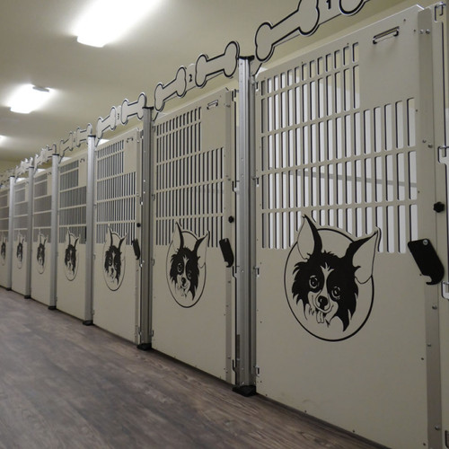 Large dog kennel gates.