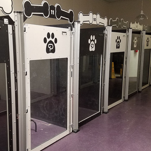 alternating colors dog kennels