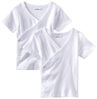 2 Pack Short Sleeve Side Snap Tee, White