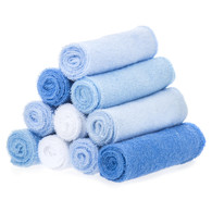 10 Pack Washcloth Set, Blue