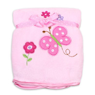 Plush Blanket, Pink Butterfly