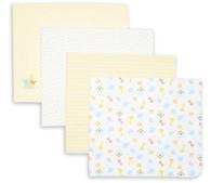 4 Pack Receiving Blanket, Yellow Ark