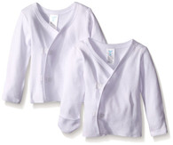 2 Pack Long Sleeve Side Snap Tee, White