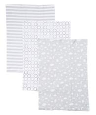 3 Pack Burp Cloth, Grey Celestial