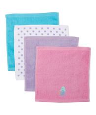 4 Pack Woven Washcloth Set, Purple Jellyfish