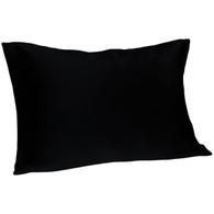 Spasilk 100% Silk Pillowcase, Standard/Queen, Black