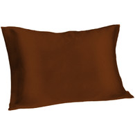 Spasilk Satin Pillowcase, Queen, Chocolate