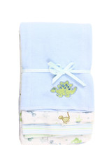 3 Pack Burp Cloth, Blue Dino