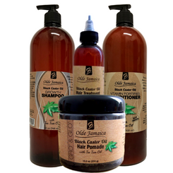 Olde Jamaica Black Castor Oil SALON SIZE Combo