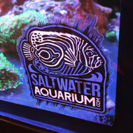 SaltwaterAquarium.com Logo Sticker on Clear Background (FREE ON ORDERS OVER $50) - SAQ.com