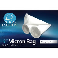 "Circular Filter Sock 4"" 300 Micron (3 Pack) - Eshopps"
