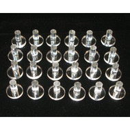 Clear Plastic Frag Plugs (24 pack) - Eshopps