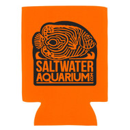 SaltwaterAquarium.com Floresencent Orange & Black Logo Collapsible Beer Coolie (FREE ON ORDERS OVER $50)