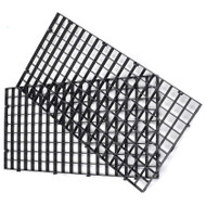 "Modular Black Egg Crate For Aquariums (ONE PIECE,  6"" x 12"" Rectangle) - Generic"