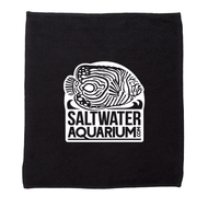 Cotton Aqurium Logo Splash Towel - Black/White Logo