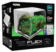 """FLEX 57L 15 Gallon Aquarium Kit - WHITE (16"""" x 15"""" x 15"""")  - Fluval"""