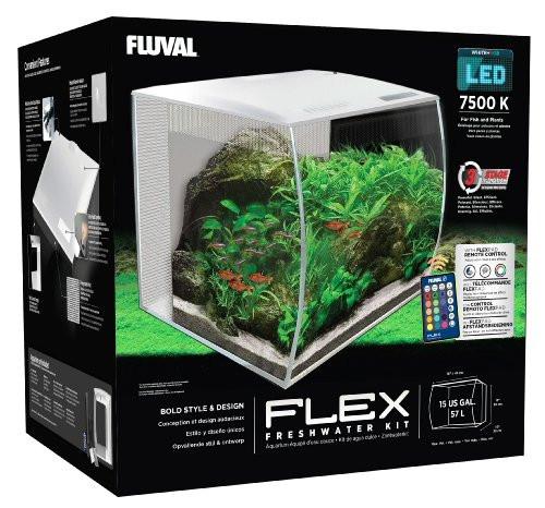 flex 57l 15 gallon aquarium kit white 16 x 15 x 15 fluval