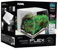 """FLEX 34L 9 Gallon Aquarium Kit WHITE - (14"""" x 13"""" x 13"""")  - Fluval"""