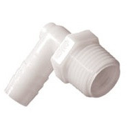 "Nylon Elbow 1""Mptx to 1""Hose White"