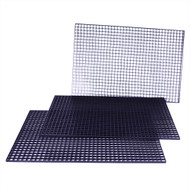 "FragGrid Black Egg Crate 48"" x 24"" Total (3 pc 22.75"" x 15.25"") - Deep Blue"