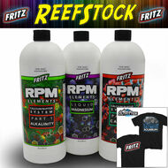 Fritz RPM Liquid Elements Combo Pack (MG, Alk, CA) (3x 32oz) FREE Reefstock 2018 TSHIRT - Fritz