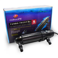 Turbo Twist 6X UltraViolet Sterilizer 18W (250 gal) - Coralife