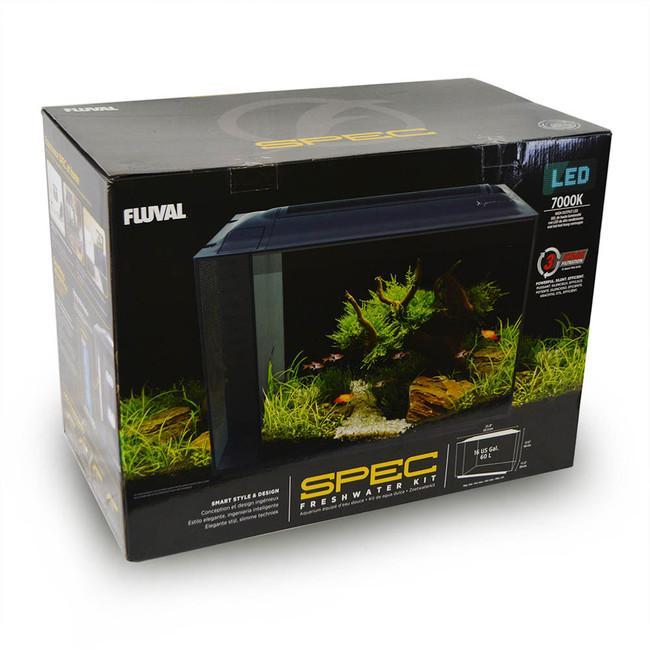 spec v 16 gallon freshwater aquarium kit 21 8 x 17 5 x 11 5