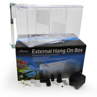 External Hang On Quarantine/Acclimation Box (3 Section) w/Pump - Finnex