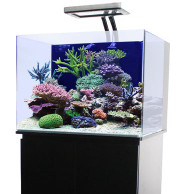 45 Gallon Rimless Cube Aquarium w/ Knockdown Stand Black - JBJ