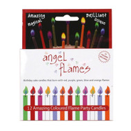 Angel Flames Birthday Coloured Flames Candles  - Party Wax Candles