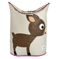 3 Sprouts Laundry Storage Hamper : Pink Deer