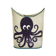 3 Sprouts Laundry Hamper : Purple Octopus