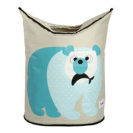 3 Sprouts Kids Decor Laundry Hamper : Blue Polar Bear