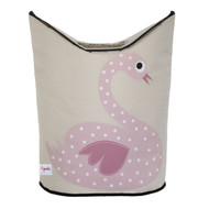 3 Sprouts Laundry Hamper - Pink Swan