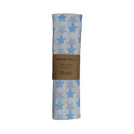 ES Kids Muslin Cotton Cloth - Blue Stars - Newborn Baby Swaddle Wrap