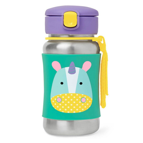 Skip Hop Stainless Steel Straw Bottle - Unicorn