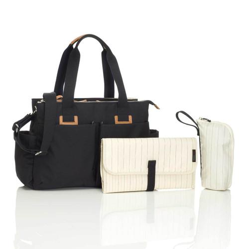 Storksak Baby Travel Nappy Shoulder Bag Set - Black