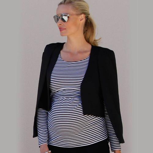 Angel Maternity Cape Blazer Jacket - Black